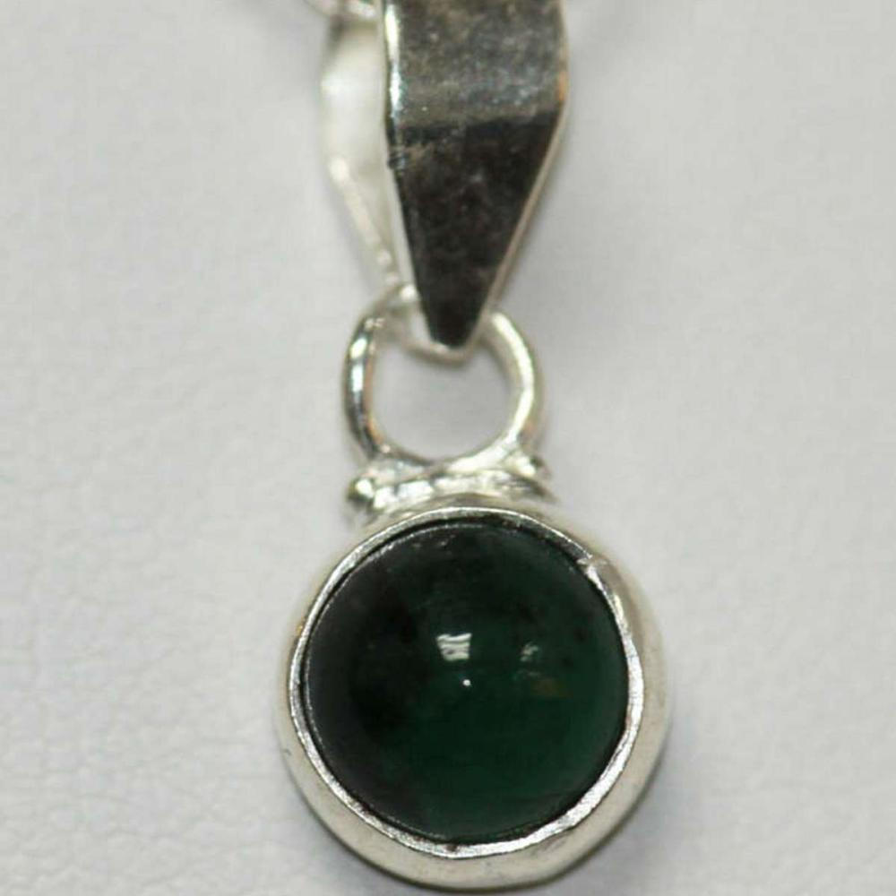 NATURAL EMERALD PENDANT .75 CTW .925 STERLING SILVER