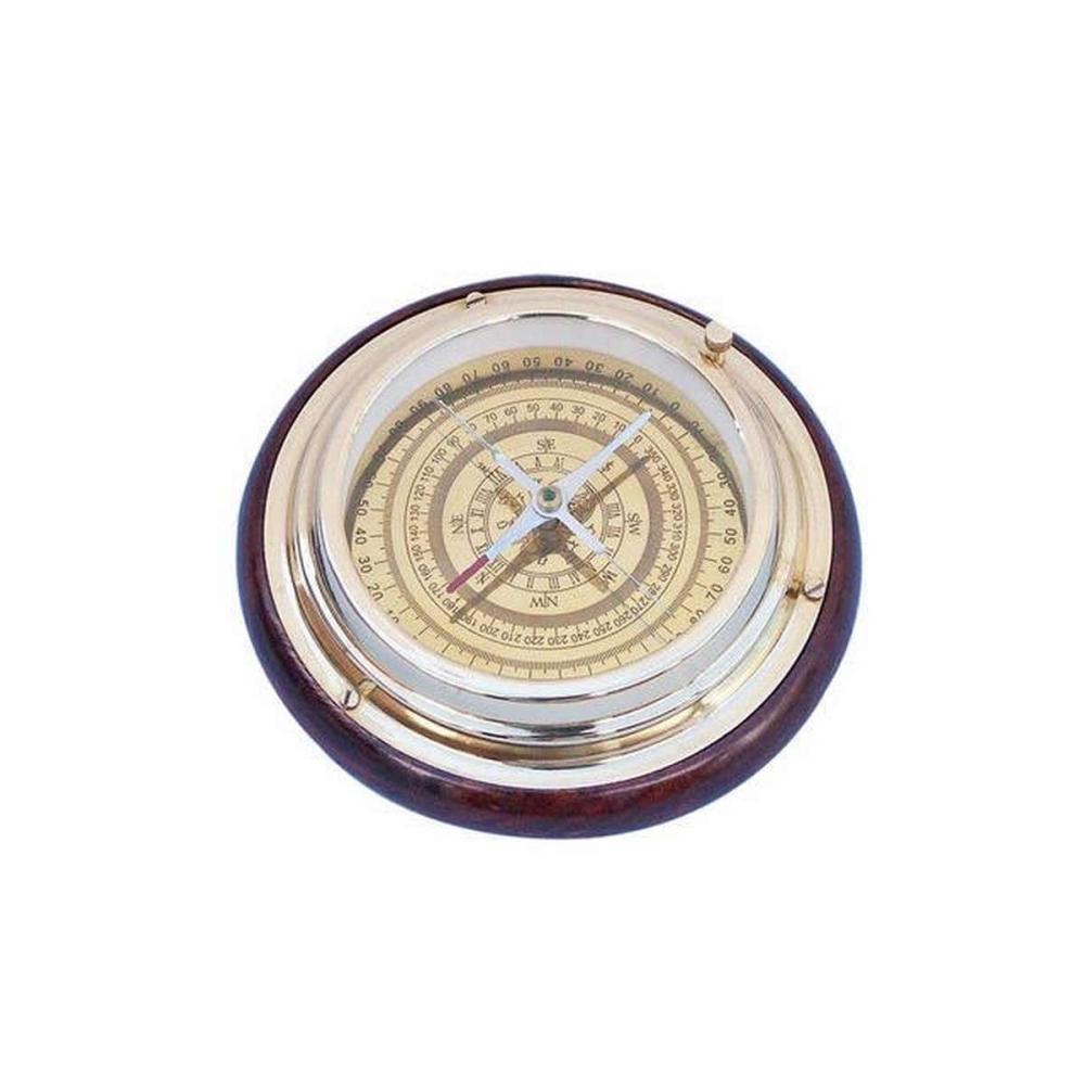 Brass Directional Desktop Compass 6in.