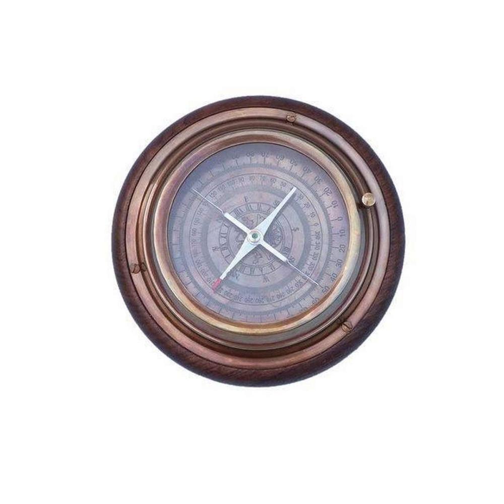 Antique Brass Directional Desktop Compass 6in.