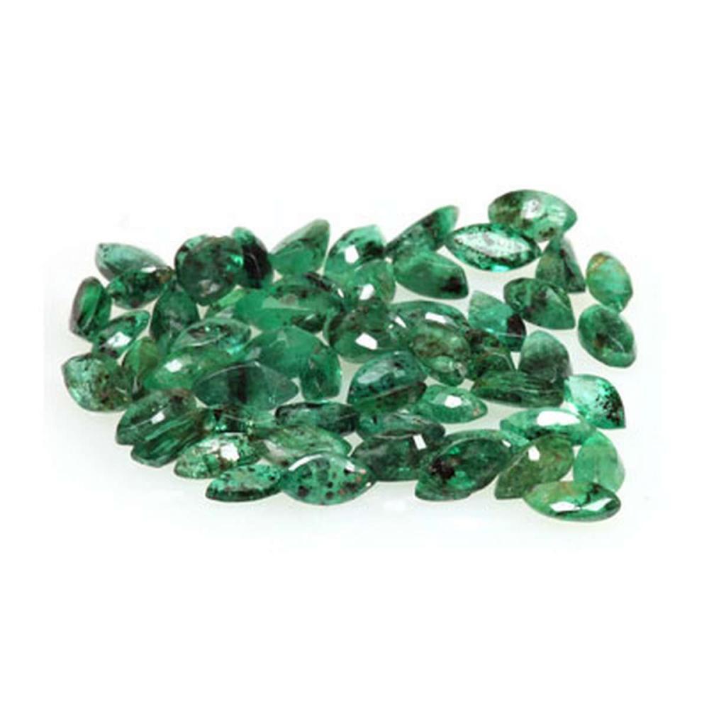 Natural  Emerald 4.33 ctw Marque Cut  4x2mm