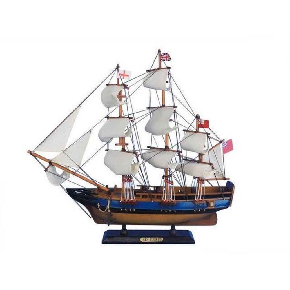 Wooden HMS Bounty Tall Model Ship 20in.