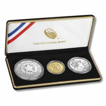 2015 3-Coin Commemorative United States Marshals Service Proof Set (Box & COA)