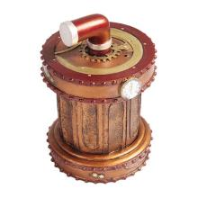 HAND PAINTED RESIN STEAMPUNK PRESSURE VALVE BOX H: 7