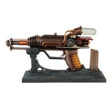 STEAMPUNK GUN W/STAND L: 12