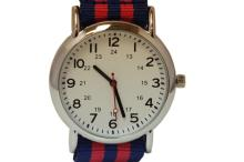 BLUE AND RED WRIST WATCH