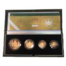 Great Britain 4 piece gold sovereign set 2002 Golden Jubilee