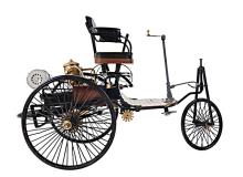 HAND MADE 1886 YELLOW AND BLACK BENZ REPLICA