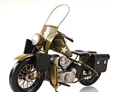 HAND MADE 1942 YELLOW MOTERCYCLE 1:12TH SCALE MODEL REP
