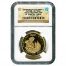 Great Britain 100 Pound Gold 2010 NGC PF70 2012 Olympics - Neptune