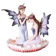 HAND PAINTED RESIN FAIRY SISTERS 6