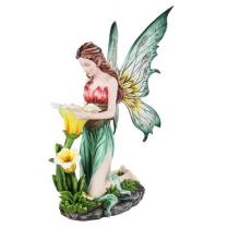 COLD CAST RESIN FAIRY REFLECTING H: 28
