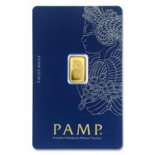 1 gram Gold Bar - PAMP Suisse Lady Fortuna Veriscan (In Assay) #22378v3