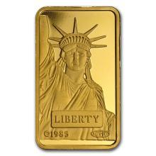 10 gram Gold Bar - Credit Suisse Statue of Liberty #22395v3