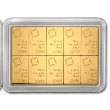 10x 1/10 oz Gold CombiBar #22393v3