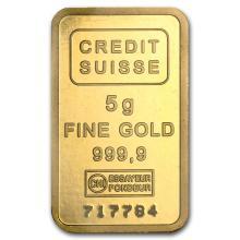 5 gram Gold Bar - Credit Suisse Statue of Liberty #22389v3