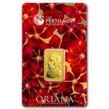 10 gram Gold Bar - Perth Mint Oriana Design (In Assay) #22400v3