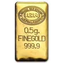 1/2 gram Gold Bar - Secondary Market #22383v3