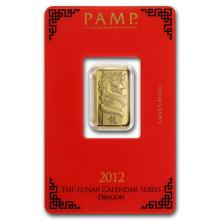 5 gram Gold Bar - PAMP Suisse Year of the Dragon (In Assay) #22432v3