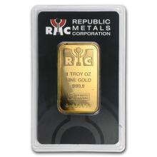 1 oz Gold Bar - RMC Republic Metals .9999 (In Assay) #22373v3