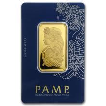1 oz Gold Bar - PAMP Suisse Lady Fortuna Veriscan In Assay #22376v3
