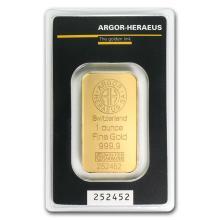 1 oz Gold Bar - Argor-Heraeus #22398v3