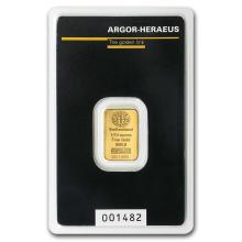 1/10 oz Gold Bar - Argor-Heraeus #22414v3