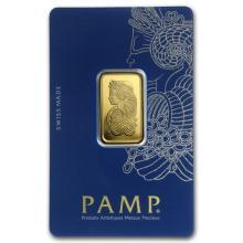 10 gram Gold Bar - PAMP Suisse Lady Fortuna Veriscan (In Assay) #22396v3