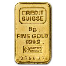 5 gram Gold Bar - Secondary Market #22426v3