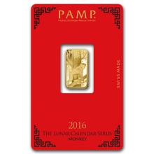 5 gram Gold Bar - PAMP Suisse Year of the Monkey (In Assay) #22412v3