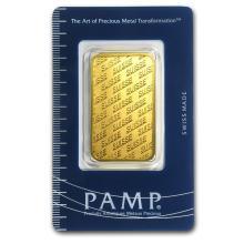 1 oz Gold Bar - PAMP Suisse New Design (In Assay) #22382v3