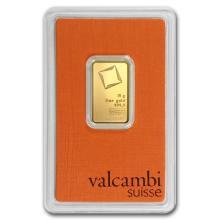 10 gram Gold Bar - Valcambi (In Assay) #22404v3