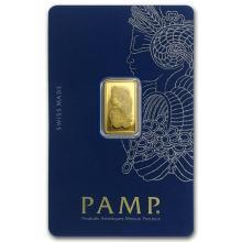2.5 gram Gold Bar - PAMP Suisse Lady Fortuna Veriscan (In Assay) #22379v3