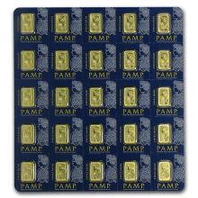 25x1 gram Gold Bar PAMP Suisse Multigram+25 (In Assay) #22399v3