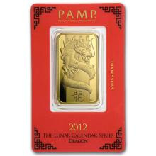 1 oz Gold Bar - PAMP Suisse Year of the Dragon (In Assay) #22416v3