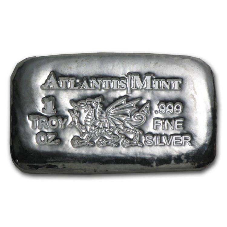 1 oz Silver Bar - Atlantis Mint (Dragon)