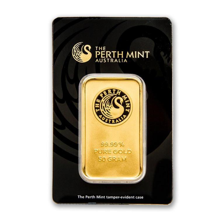 50 gram Gold Bar - Perth Mint (In Assay)