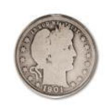 90% Barber Silver Quarters $1000 Face Circulated - Good or Better (4000 pcs.)