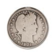 90% Barber Silver Quarters Circulated - Good or Better (100 pcs.)