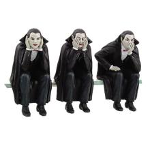 HAND PAINTED RESIN SEE, HEAR NO EVIL VAMPIRES H: 4