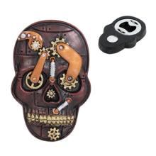 STEAMPUNK SKULL MAGNET & BOTTLE OPENER 2 1/8
