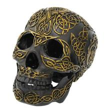 HAND PAINTED RESIN CELTIC SKULL 7 1/8