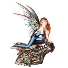 HAND PAINTED RESIN STEAMPUNK FAIRY 7