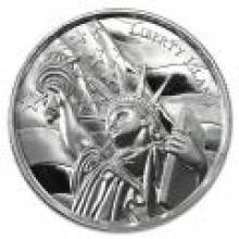 Elemetal Mint 2 oz High Relief Silver Round - Liberty Island