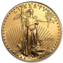 2000 1 oz Gold American Eagle BU
