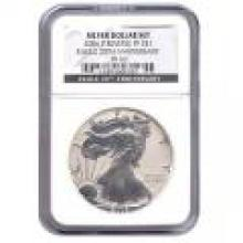 Certified 2006 20th Anniversary American Eagle Silver Reverse Proof PF69