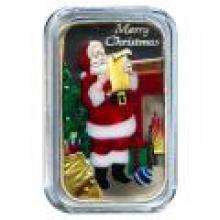 Christmas 2016 Silver Bar XE-1 Enameled Santas List
