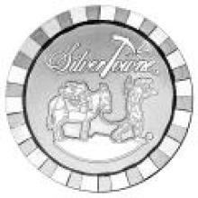 SilverTowne 1 oz Silver Round - Stackable Poker Chip Design