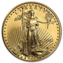 2001 1/2 oz Gold American Eagle BU