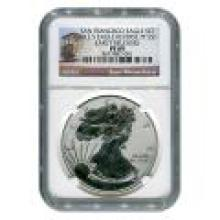 Certified 2012-S 75th Anniversary American Eagle Silver Reverse Proof PF69 NGC