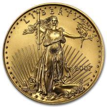 2007 1/2 oz Gold American Eagle BU